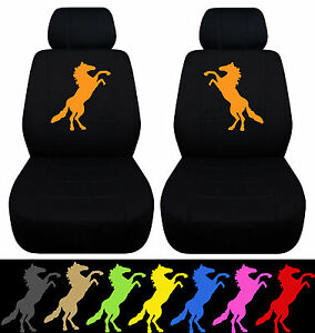 Cc Designcovers Fits 05 08 Ford Mustang Front Car Seat Covers W standing Horse