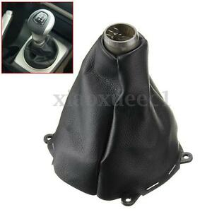 Manual Shift Shifter Boot Pu Leather Black Stiched For Honda Civic Si 06 11 Us