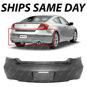 New Primered Rear Bumper Cover For 2008 2009 2010 2011 2012 Honda Accord Coupe