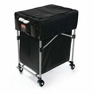 Rubbermaid 1889863 Collapsible Black X cart Cover Small