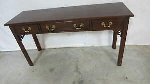 Ethan Allen Sofa Table Console Cherrythree Drawer