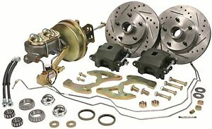 1955 1956 1957 Chevy Belair Power Disc Brake Conversion Kit With Hardlines