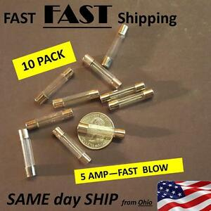 5 Amp Fast Blow Fuse Fast Ship 10 Pack