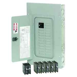 Home 100 Amp Electrical Panel Distribution Circuit Br Main Breaker Load Center
