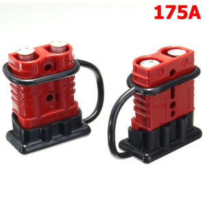 2x 175a Car Battery Quick Connect Disconnect Winch Connector 0 1 2 4 Gauge Cable