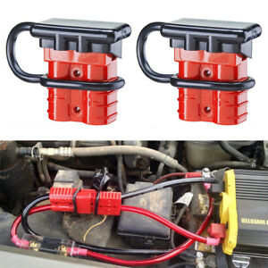 2x 50a 6 8 Gauge Battery Quick Connect Disconnect Harness Plug Kit Winch Trailer
