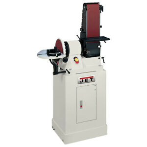 JET 48 in. Belt & 9 in. Disc Combination Sander w Closed Stand 708597K New