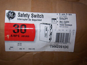 New Ge Thn2261dc 30 Amp 600v Non Fused Single Phase Disconnect Safety Switch