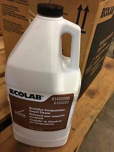 Case Of 4 Gallons Ecolab Revitalize Encapsulation Carpet Cleaner New