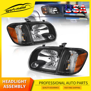 Headlights For 2005 2006 Toyota Tundra 2005 2007 Sequoia Black Headlamp Assembly