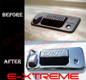 For 2016 17 2018 Toyota Tacoma Crewcab Chrome Tailgate Handle Cover W Camera Log