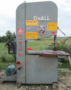 Doall Vertical Band Saw Zw 3620