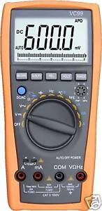 Vc99 5999 Auto Range Digital Multimeter Analog Bar Buzz Ac Dc Current Voltage