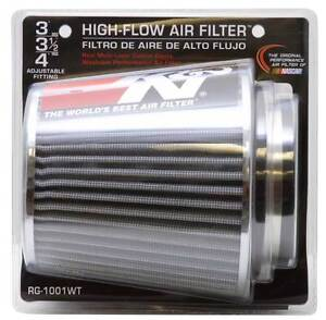 K n 3 To 4 Round Tapered Universal Air Intake Cone Filter Chrome Truck suv car