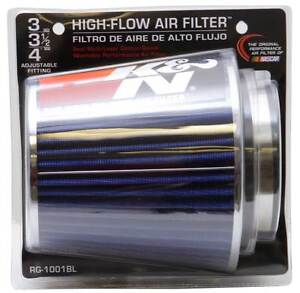 K n 3 To 4 Round Tapered Universal Air Intake Cone Filter Chrome Car suv truck