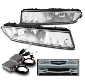 2002 2003 Acura Tl Chrome Front Bumper Driving Fog Lights W 50w 6k Xenon Hid Set