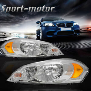For 2006 2013 Chevy Impala 2006 2007 Monte Carlo Headlights Assembly Kit Pair