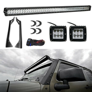 50 Inch Led Light Bar Mounting Bracket For 07 16 Jk Jeep Wrangler 4wd 2wd