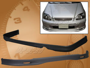For 96 98 Civic 2 4 Dr Sp Style Pu Polyurethane Front Rear Bumper Lip Spoiler