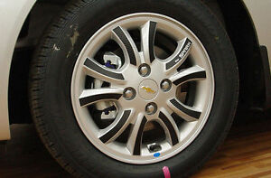 Left Right Carbon Tuning Wheel Sticker 14 1set For 13 Chevy Spark