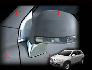 Side Mirror Bracket Chrome Moulding Cover Trim For 2008 2010 Chevy Captiva