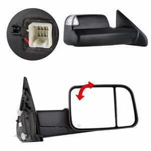 L R Power Heated Telescoping Tow Mirror For 98 01 Dodge Ram 1500 98 02 2500 3500