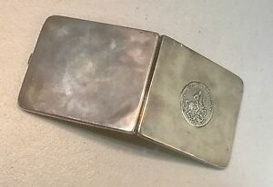 Vintage European Silver 900 Cigarette Card Case 1915 S Georgivs Patrovs Coin