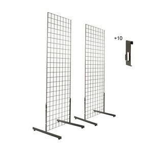 Gridwall Panels 2 X 6 With T leg Stands And Utility Hooks