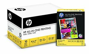 Hp Paper All in one Printing Paper 22 Lb 8 5x11 96 Bright 207010c 5000 Sheets
