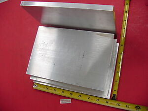 4 Pieces 1 2 X 6 Aluminum 6061 Flat Bar 9 Long Solid T6511 Plate Mill Stock