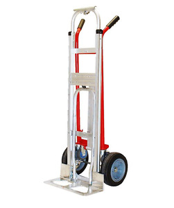 Aluminum Heavy Duty 4 Position Sturdy Dolly Hand Truck Cart Push Moving Load New
