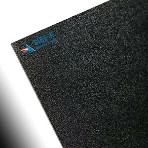 Black Abs Haircell Textured Hobby Audio Plastic Sheet 1 8 X 24 X 48 2 Pack