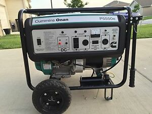 Cummins Onan P5550 E Generator Very Nice Condition 120 240v