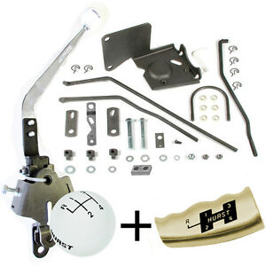 Hurst Comp 4 Speed Shifter Kit 1973 1979 Nova Chevy Ii Sag 441 Free T Handle