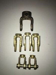 Lot 1 pto Round End Yoke 2 push Rod Clevis York Assemblies And 3 gunite Clevis