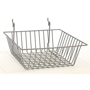 12 X 12 X 4 Baskets For Gridwall slatwall pegboard Chrome 1pc