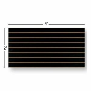New Slatwall Easy Panels Set Of 2 Pieces 2 H X 4 W Black Free