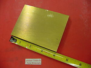 1 2 X 3 C360 Brass Flat Bar 4 Long Solid Plate Mill Stock H02 50 X 3 0 x 4