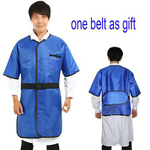 0 35mmpb X ray Protection Lead Apron Shield Vest Half Sleeves With Belt L Size