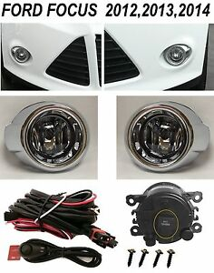 New Fog Light Kit Driving Lamps For 2012 2014 Ford Focus Bezels 3m Harness