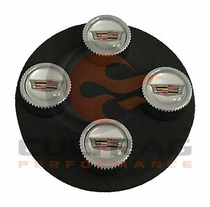 2012 2014 Cadillac Cts Valve Stem Caps Color Cadillac Crest Silver Background