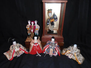 4 3 1 Antique Japanese Hina Imperial Court Empres Dolls With Gofun Faces