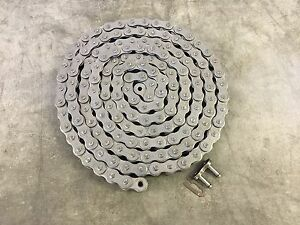 100h Heavy Roller Chain 10ft W connecting Link Ansi Standard 100 1h X 10