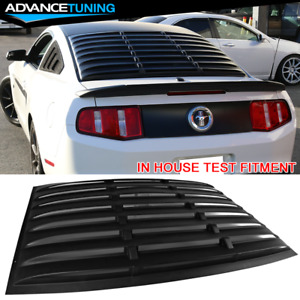 For 05 14 Ford Mustang Gt V6 V8 Rear Window Louver Matte Black Cover Abs