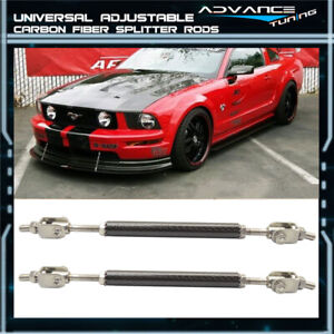 For Mustang Carbon Fiber Splitter Rod Strut Support Stabilizers Adjustable 5 5 8