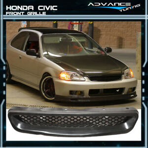 Fit For Jdm 99 00 Honda Civic T R Style Front Hood Mesh Grill Grille Abs