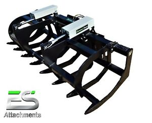 Es 78 Heavy Duty Grapple Powder Coated Skid Steer Quick Attach Local Pick Up