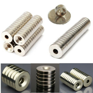 10 20 50pcs Strong Disc Rare Earth Neodymium Magnets Hole Countersunk