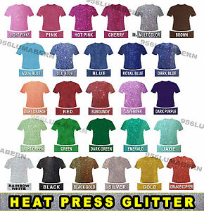 Grab Bag 10 Sheet 12x20 Super Glitter Heat Press Thermal Transfer Vinyl Htv Set