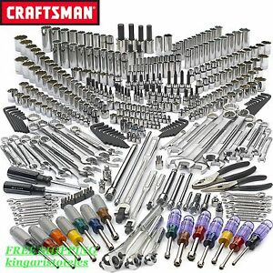 413 Pcs Mechanics Tool Set Car Boat Ratchets Sockets Wrenches Box Case Toolb x